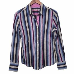 Robert Graham Striped Button Down (size 8)